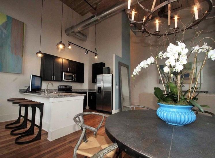 Drayton Mills Lofts Dining Room